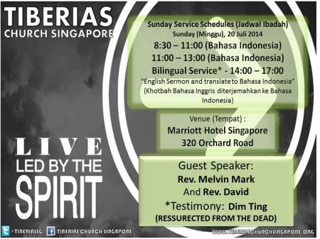 Sunday Service 20 Juli 2014