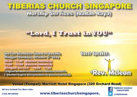 Sunday Service 5 October 2014
