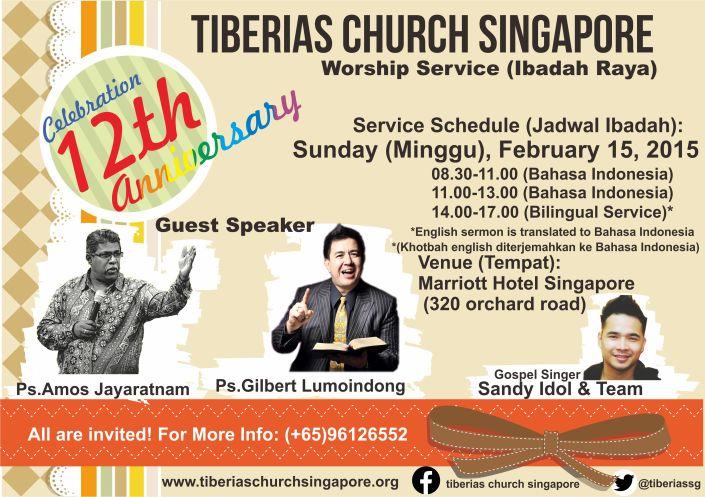 Sunday Service 15 February 2015