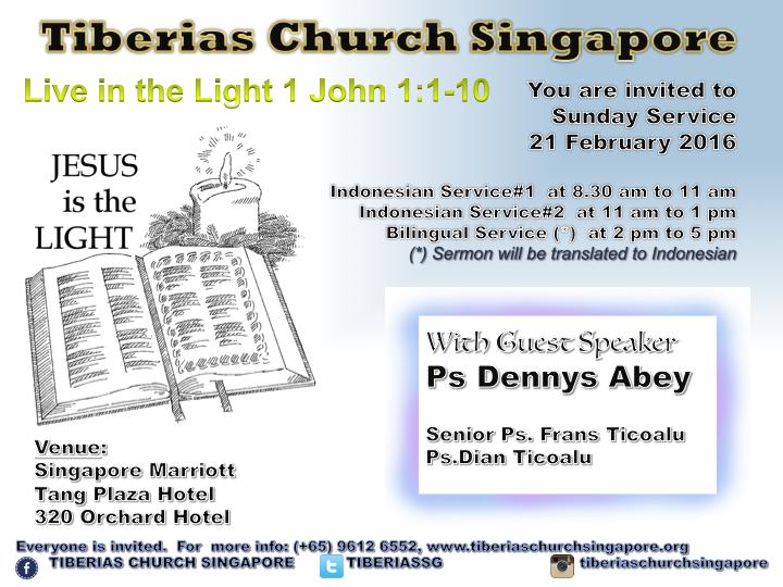 Sunday Service 21 February 2016
