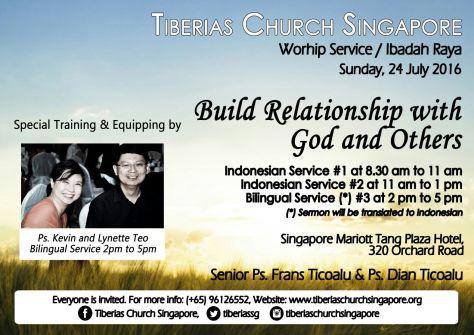 Sunday Service 24 July 2016